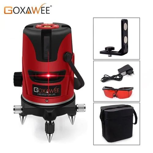 Goxawee Red Laser Level 360 Degree Cross Line Rotary Level Measuring Instruments 5 Lines 6 Points Sale Price Reviews Gearbest In 2020 Laser Levels Electrical Tools Rotary