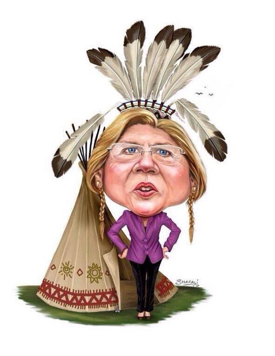 Presumptuous Politics: Elizabeth Warren Native American Cartoons