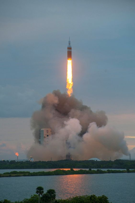 A United Launch Alliance (ULA) Delta IV Heavy rocket carrying NASA%u2019s Orion spacecraft successfully launched from Cape Canaveral Air Force Station, Florida, Dec. 5, 2014. [Read full story.]