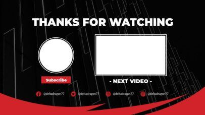 Click To Use This Template Youtube End Screen With Abstract Frame Textures 1265inspiration Ideas Exam Youtube Design Youtube Banner Design Youtube Channel Art