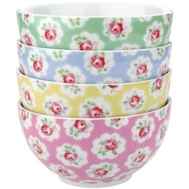 Provence rose cereal bowls