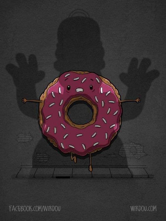 Homer el terror de las rosquillas . Más en www.lasfotosmasgraciosas.com