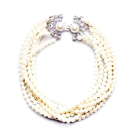 (13) Luxe Multi Strand Pearl Necklace from Lily Wang on OpenSky
