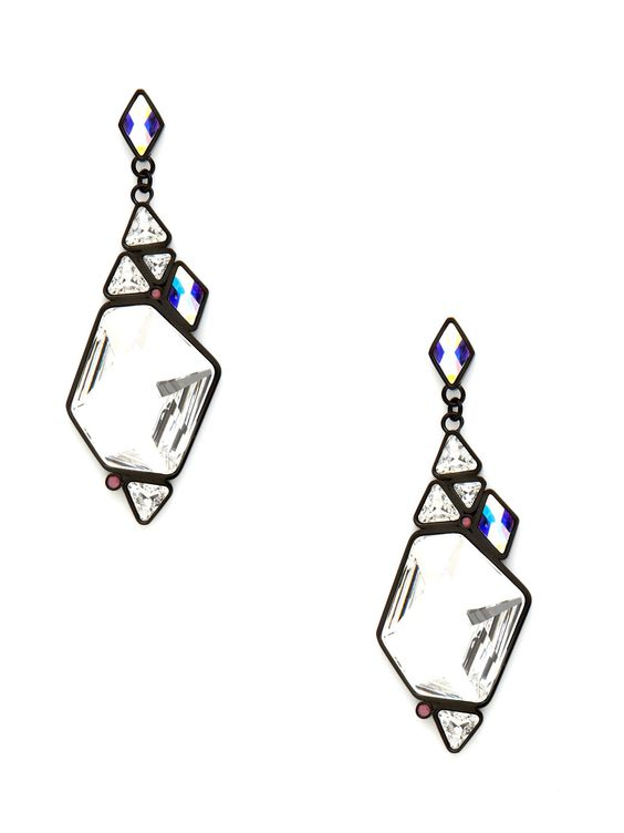 Rocket Faceted Crystal Earrings by Swarovski Jewelry at Gilt