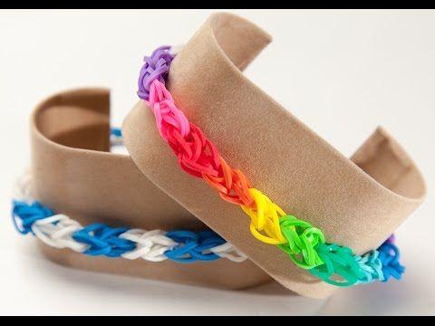 Wie erstelle ich ein Rainbow Loom Diamond Armband | Rainbow Loom Anleitungen