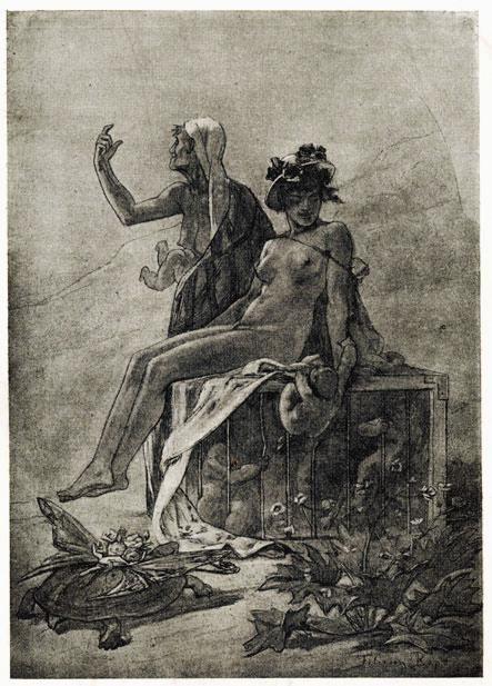 Pinturas de Félicien Rops! | Artes & Humor de Mulher: