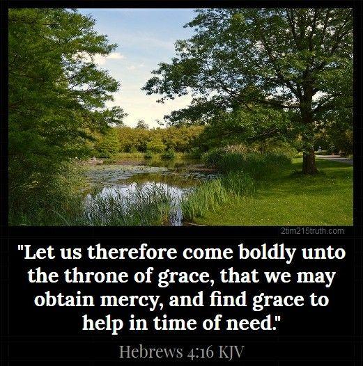 Hebrews 4:16 (KJV) | Kjv, Hebrews 4 16, Scripture pictures