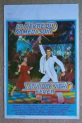 SATURDAY Stygian FEVER John Travolta Rare VINTAGE ORIGINAL Belgian movie poster
