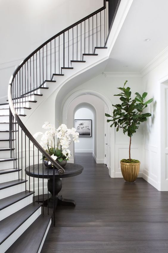 Staircase Mediterranean Style Homes House Styles Curved