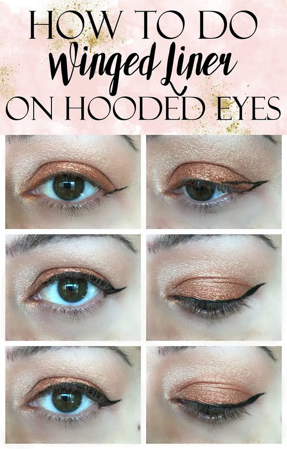 How To Apply Winged Liner On Hooded Eyes Tutorial Eyeliner