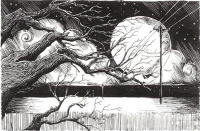 pen and ink scene
