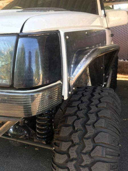 Stretched Front Fenders 37 Jeep Zj Truck Fender Flares Jeep Wj