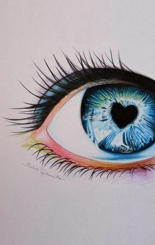 Pin By Charming Angel On Wallpapers Eye Drawing Color Pencil