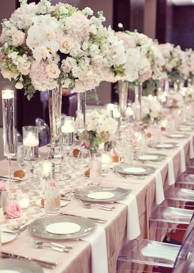 Dreamy Glittering Blush Wedding Decor It Is Stunning