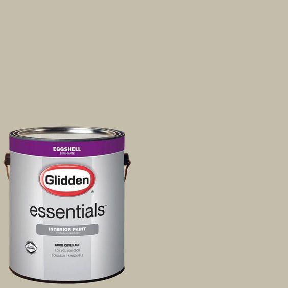 Glidden Essentials 1 gal. #HDGWN53 Grey Birch Eggshell Interior Paint