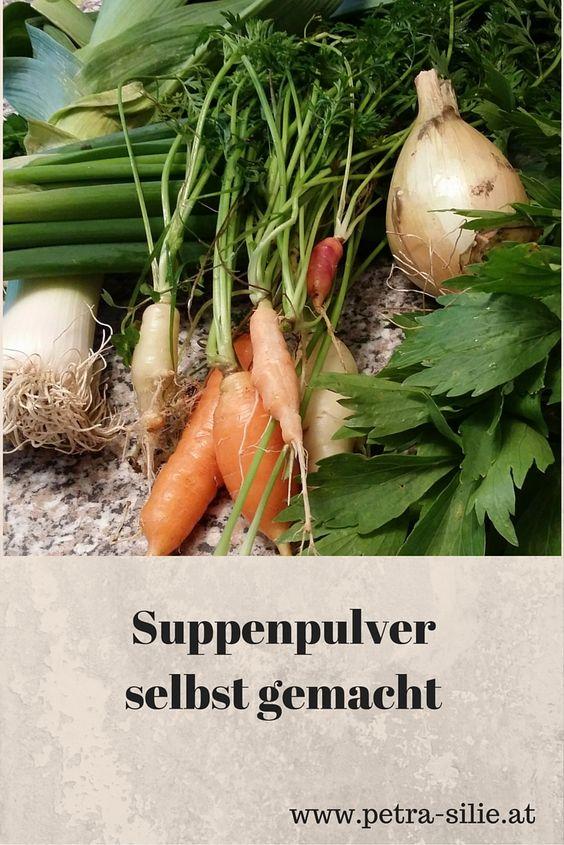 Frei von lästigen Zusatzstoffen ist die Suppenwürze, die ich mir aus gesundem Gemüse, frischen Kräutern und naturbelassenem Salz selbst mache. Natürlich ist es auch Arbeit, bis das alles fertig ist, aber dafür kann ich mit ruhigem Gewissen genießen und weiß ganz genau was drin ist.