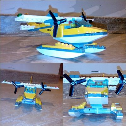 LEGO little yellow airplane.