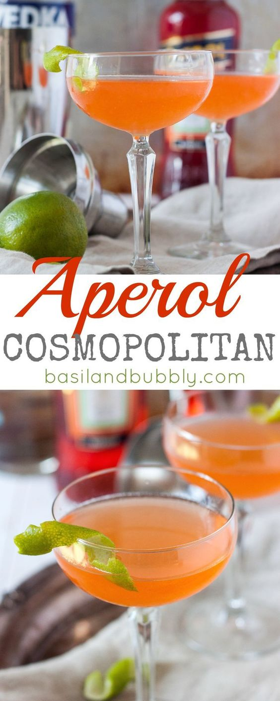 Forget about that 2001 style Cosmopolitan from Sex and the City and make a fresh, modern Aperol Cocktail with vodka, Aperol, and lime juice instead!