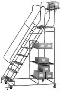 This is a Stock Picking Ladder used in most department stores.