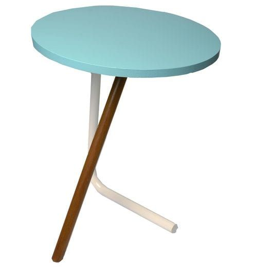 Bend The Knee Side Table In Aqua Blue Colour By 1 Bhk Aqua Blue