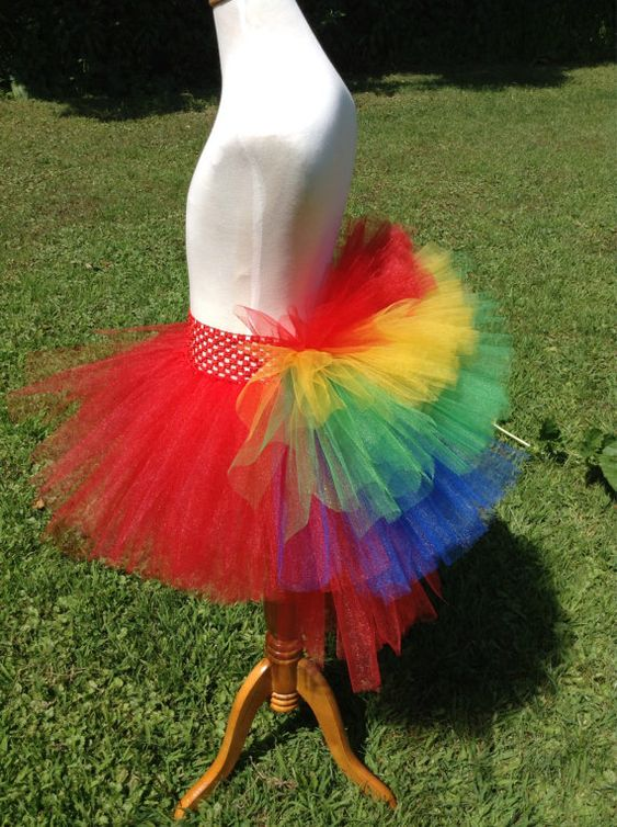 Macaw Parrot Bustle Tutu by TieDyedFairyTales on Etsy, $28.00