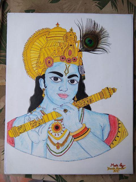 Shree Krishna Colourful Image With Images Shree Krishna Krishna