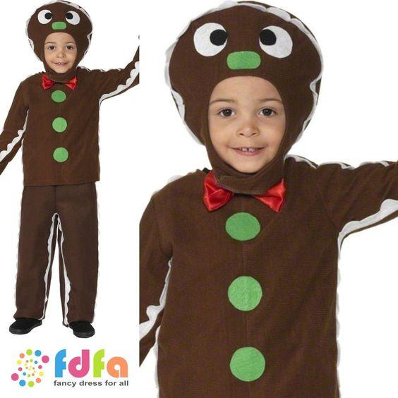 FAIRYTALE LITTLE GINGERBREAD MAN SUIT - age 3-9 - kids boys fancy dress costume in Clothes, Shoes & Accessories, Fancy Dress & Period Costume, Fancy Dress | eBay