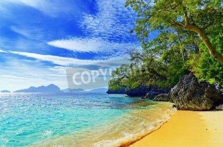 Paradise beach. Sea and sky. via MuralsYourWay.com