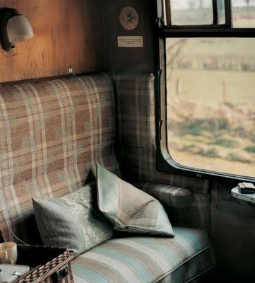 This is a picture of the train car from a steam train that goes around Mt. Rainier...how Harry Potteresque