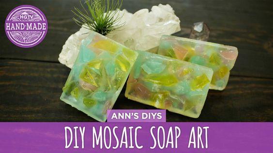 DIY Mosaic Soap Art- HGTV Handmade