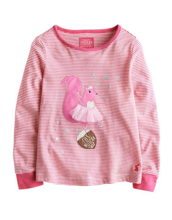 "#Joules Jersey Shirt ""Ava"" - €27,95 - Wikimo Kindermode, Kinder Shirt, pink gestreift by Tom Joule | wikimo.eu"