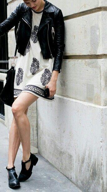 Isabel marant dress and leather jacket
