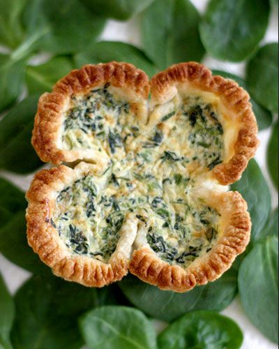Click Pic for  50 St Patricks Day Food Ideas - Lucky Spinach Quiche | St Patricks Day Recipes