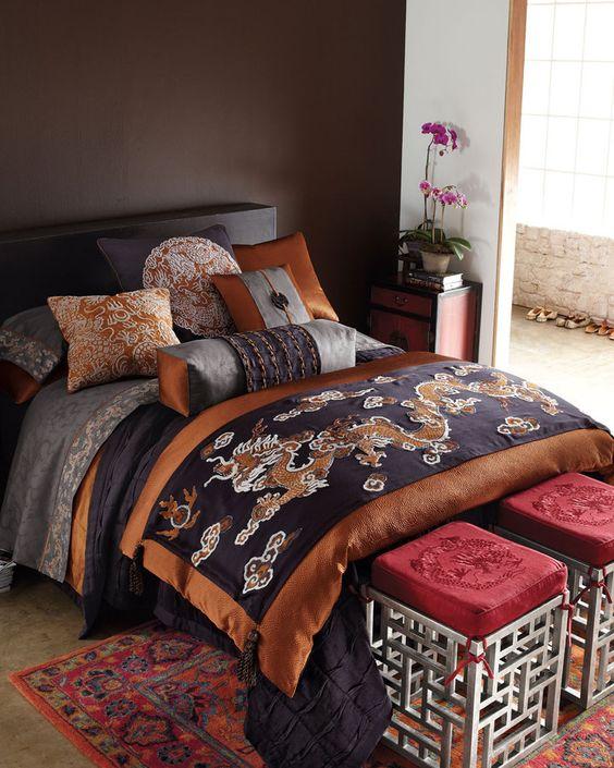Oriental bedroom - Asian bedding by Oriental Decor ·