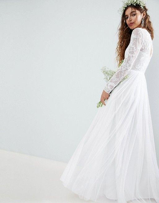 Asos Edition Asos Edition Embroidered Bodice Wedding Maxi Dress Maxi Dress Wedding Asos Wedding Dress Wedding Dresses Under 500