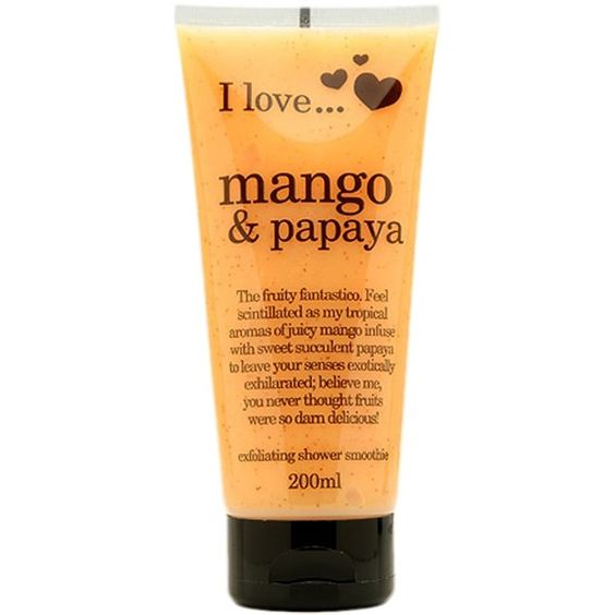 I Love... Mango & Papaya Exfoliating Shower Smoothie ($12) ❤ liked on Polyvore