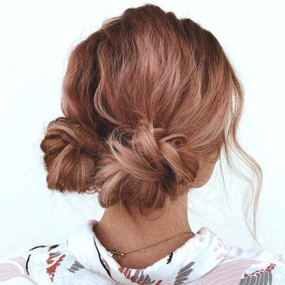 Low Double Buns Updostutorials Bun Hairstyles For Long Hair Medium Length Hair Styles Hair Styles