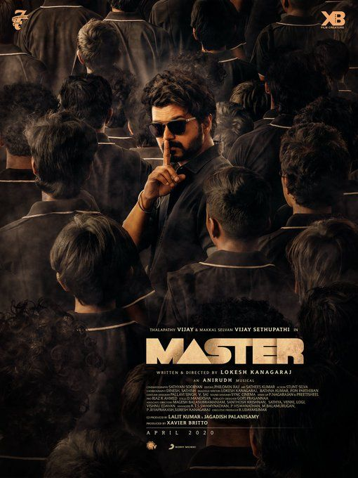 Vijay New Poster Of Master Directed By Lokesh Kanagaraj Produced By Xavier Britto April 2020 Release In 2020 New Poster Action Movie Stars It Movie Cast