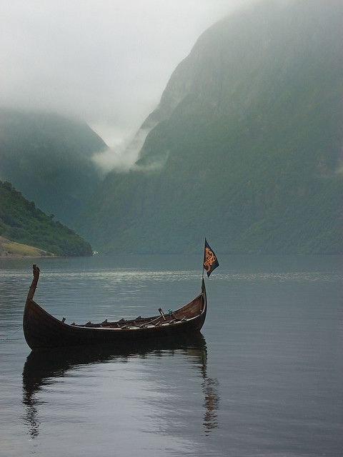 Viking ship on Naeroyfjord - Norway
