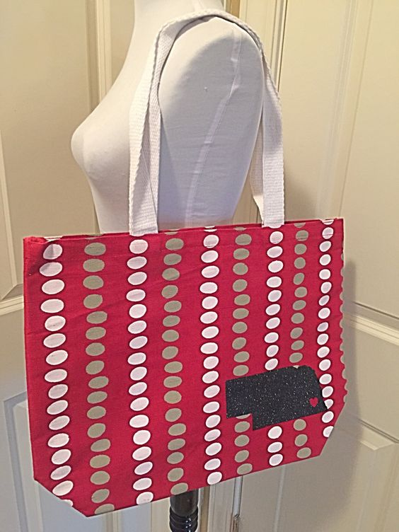 Nebraska Husker Football Volleyball Lincoln Tote - pinned by pin4etsy.com
