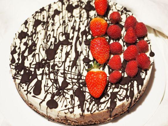 Chocolate Walnut & Orange Vanilla Cream Layer Cheesecake