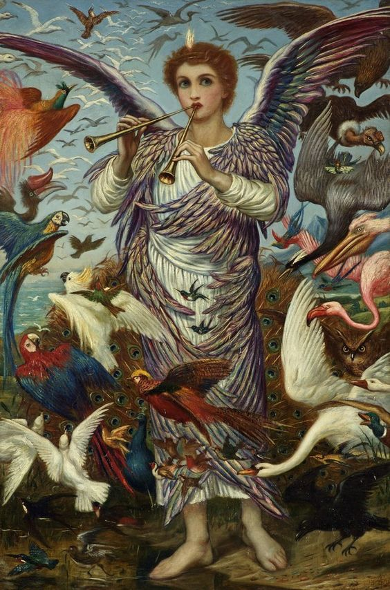 Detail of O All Ye Fowls Of The Air Bless Ye The Lord by Edward A. Fellowes Prynne