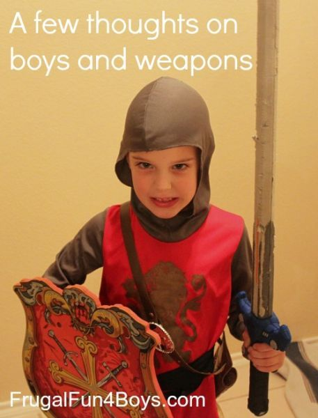 few thoughts on boys and weapons | Weapons, Thoughts and Perspective