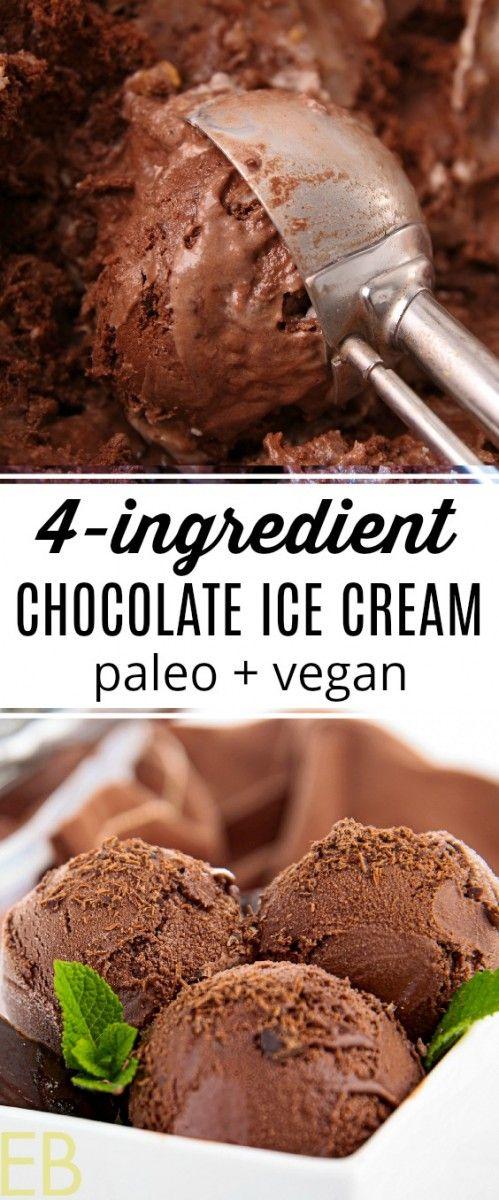 4 Ingredient Dark Chocolate Ice Cream Dairy Free Refined Sugar Free Recipe Dark Chocolate Ice Cream Easy Ice Cream Recipe Sugar Free Desserts