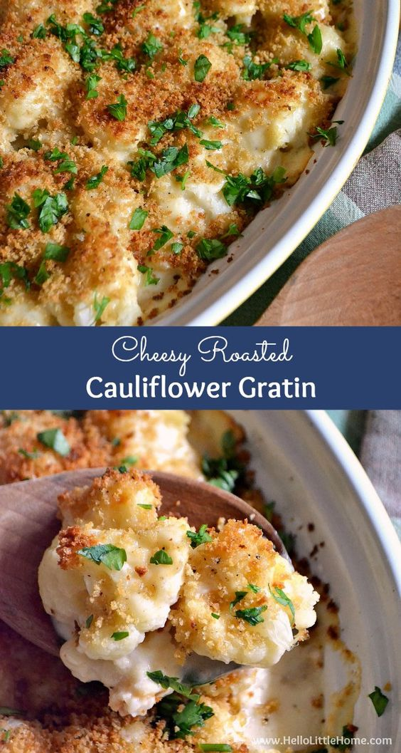 Roasted Cauliflower Gratin | Recipe | Cauliflower Gratin, Gratin ...