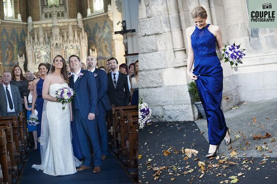 Candid photographs of the bride & groom and bridesmaids. Autumn wedding. Weddings at The Knightsbrook Hotel Photographed by Couple Photography.