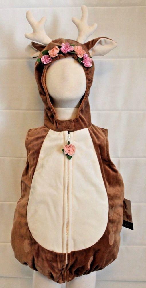 Bambi girls pinafore dress fawn costume baby deer