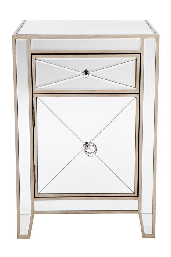 Apolo Bedside Table Antique Gold Antique Bedside Tables Mirror