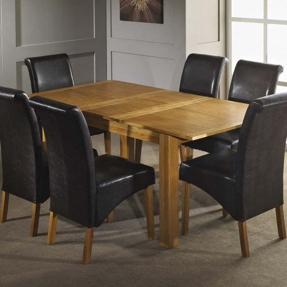 oak dining table with 6 chairs table features a butterfly extension