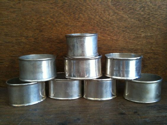 Vintage English Metal Napkin Rings by EnglishShop on Etsy, $59.00